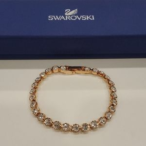 Swarovski Rose Gold Tennis Bracelet
